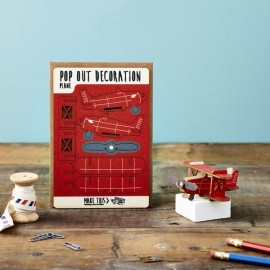 Pop Out Card Decoration Plane