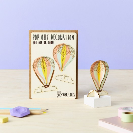 Pop Out Decoration Card Hot Air Balloon