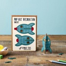 Pop Out Card Decoration Rocket