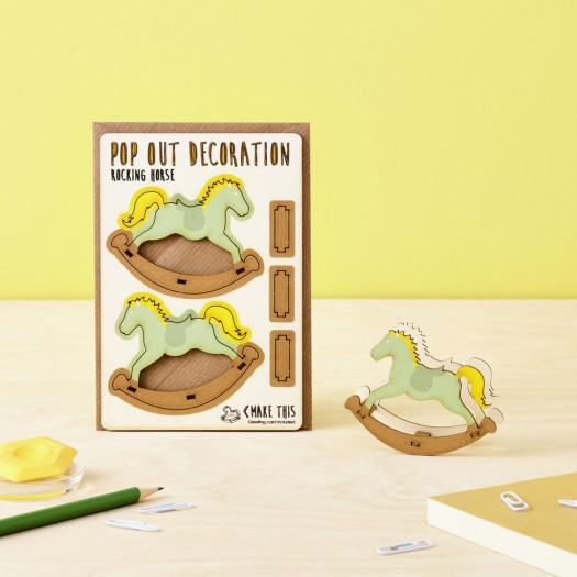 Pop Out Decoration Card Rocking Horse