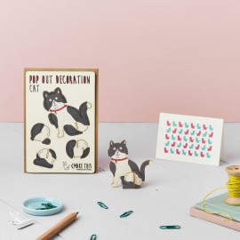 Pop Out Card Decoration Cat