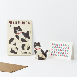 Pop Out Decoration Card Cat