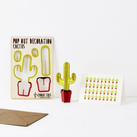 Pop Out Decoration Card Cactus