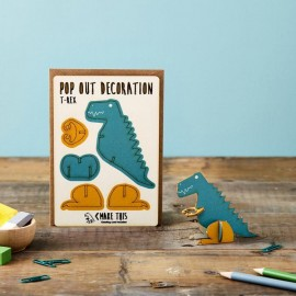 Pop Out Card Decoration T-Rex