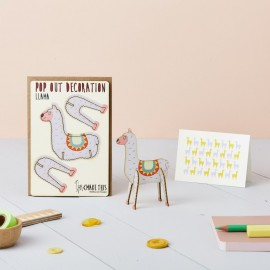 Pop Out Decoration Card Llama