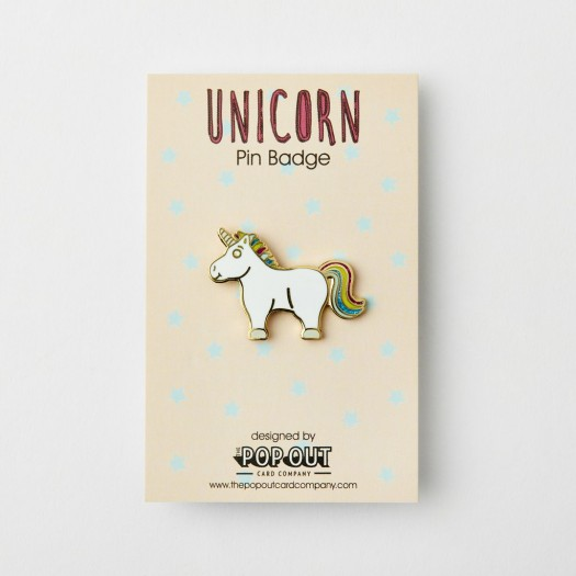 Pop Out Card Decoration Pin Badge Unicorn