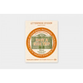 Travel Tool Collection Letterpress Sticker Limited Edition