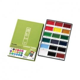 Farby akwarelowe Kuretake Gansai Tambi 18 kolorów