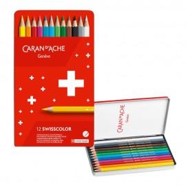 Caran D'Ache Swisscolor Aquarelle Colouring Pencils 12 pieces
