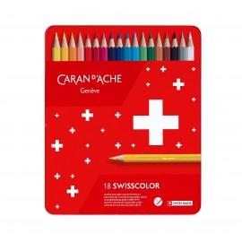 Kredki Caran d'Ache Swisscolor Aquarelle 18 sztuk
