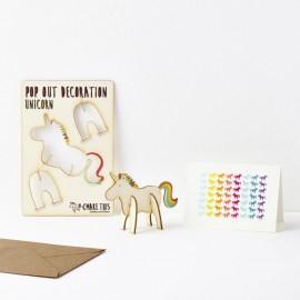 Pop Out Card Decoration Unicorn