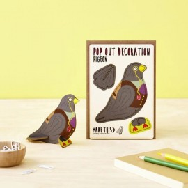 Pop Out Card Decoration Pigeon
