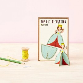Pop Out Card Decoration Priness