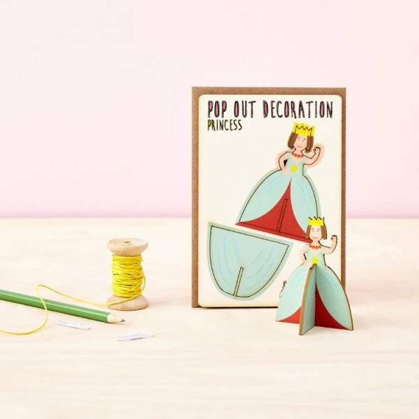 Kartka Pop Out Card Decoration Księżniczka