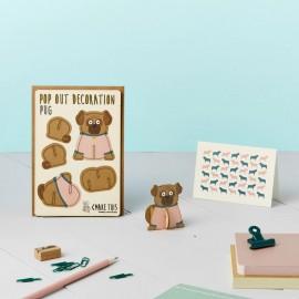 Pop Out Card Decoration Pug