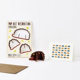 Pop Out Card Decoration Hedgehog
