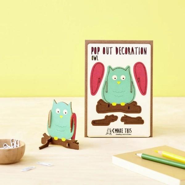 Pop Out Card Decoration Owl