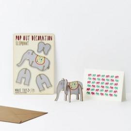 Pop Out Card Decoration Elephant