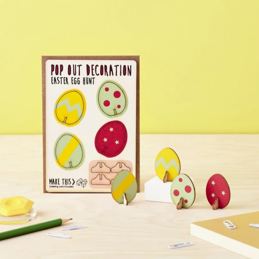 Pop Out Card Decoration Easter Egg