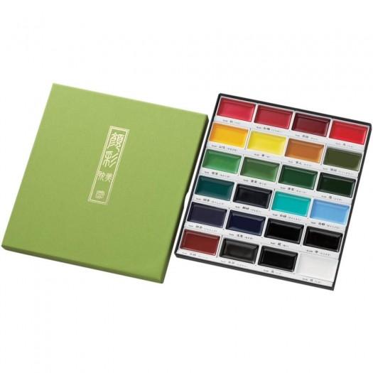 Kuretake Gansai Tambi 24 Colors Set