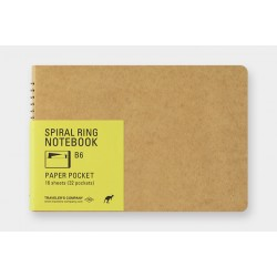 TRC Spiral Ring Notebook Paper Pocket B6