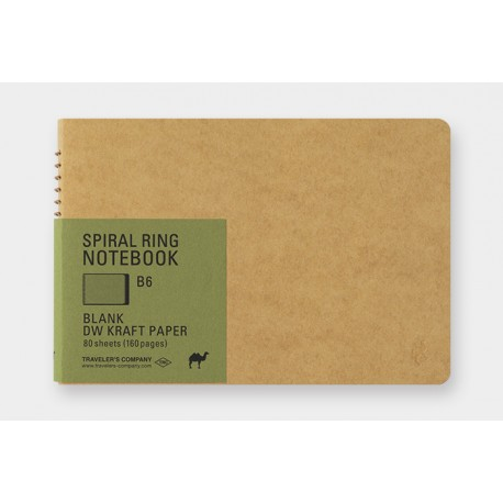 TRC Spiral Ring Notebook DW Kraft B6