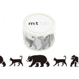 MT Screen Print Tape Black Animals