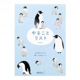 Midori To Do Memo Pad Penguin
