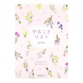 Notes Midori To Do Memo Pad Kwiaty