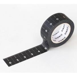ICONIC Masking Tape Ruler Black