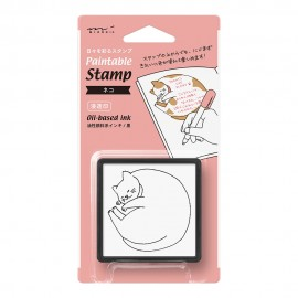 Midori Paintable Stamp Pre-inked Cat