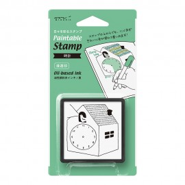 Pięczątka Midori Paintable Stamp Pre-inked Zegar