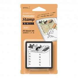 Pięczątka Midori Paintable Stamp Pre-inked Lista Zakupów
