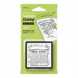 Midori Paintable Stamp Pre-inked Habit Tracker