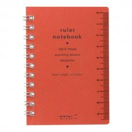 Notes Midori Ruler Notebook A7