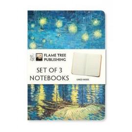 Zestaw 3 notatników Vincent Van Gogh Collection