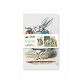 Alice in Wonderland Set of 3 Notebooks Collection