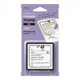 Midori Paintable Stamp Pre-inked Telefon
