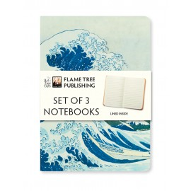 Japanese Woodblock Set of 3 Notebooks Collection