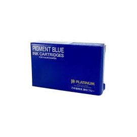 Platinum Ink Cartridges Pigment Blue 10 pieces