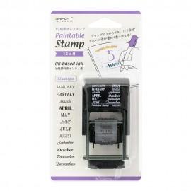Pieczątka Midori Paintable Stamp 12 Miesięcy