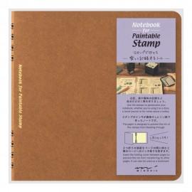 Midori Stamp Notebook Brown
