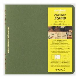 Midori Stamp Notebook Green