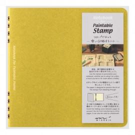 Midori Stamp Notebook Yellow