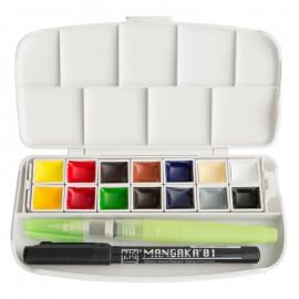 Farby akwarelowe Kuretake Gansai Tambi Portable 14 kolorów
