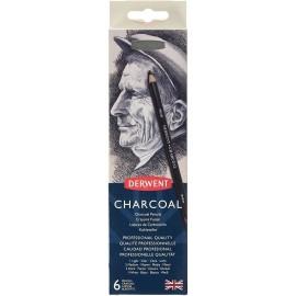 Węgiel Rysunkowy w Kredce Derwent Charcoal Pencils 6 sztuk