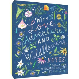 Postcards Chronicle Books Katie Daisy: With Love Adventure and Wildflowers