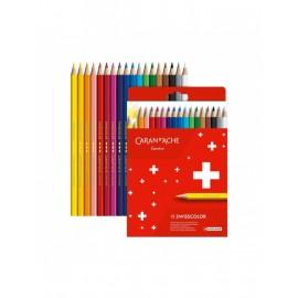 Caran D'Ache Swisscolor Colouring Pencils 18 pieces
