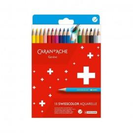 Caran D'Ache Swisscolor Aquarelle Colouring Pencils 18 pieces