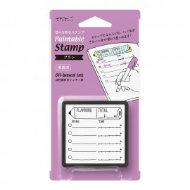 Pieczątka z tuszem Midori Paintable Stamp Planning